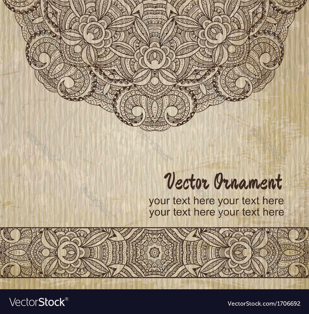 Thnic vintage ornament background