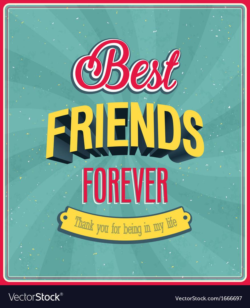 Best friends forever typographic design