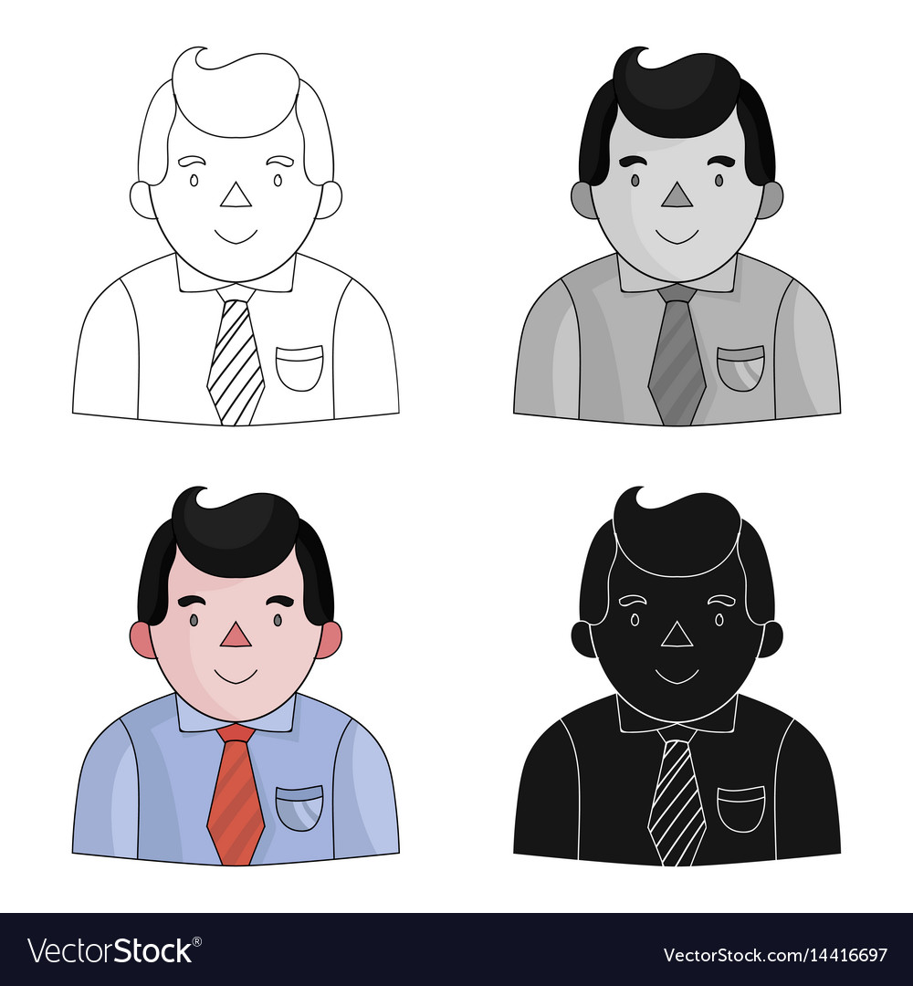 Businessman icon in cartoon style isolated on
