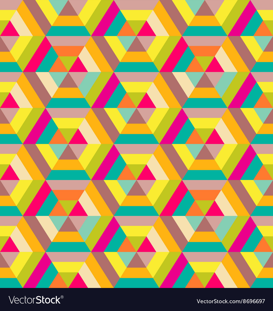 Colorful hexagon seamless