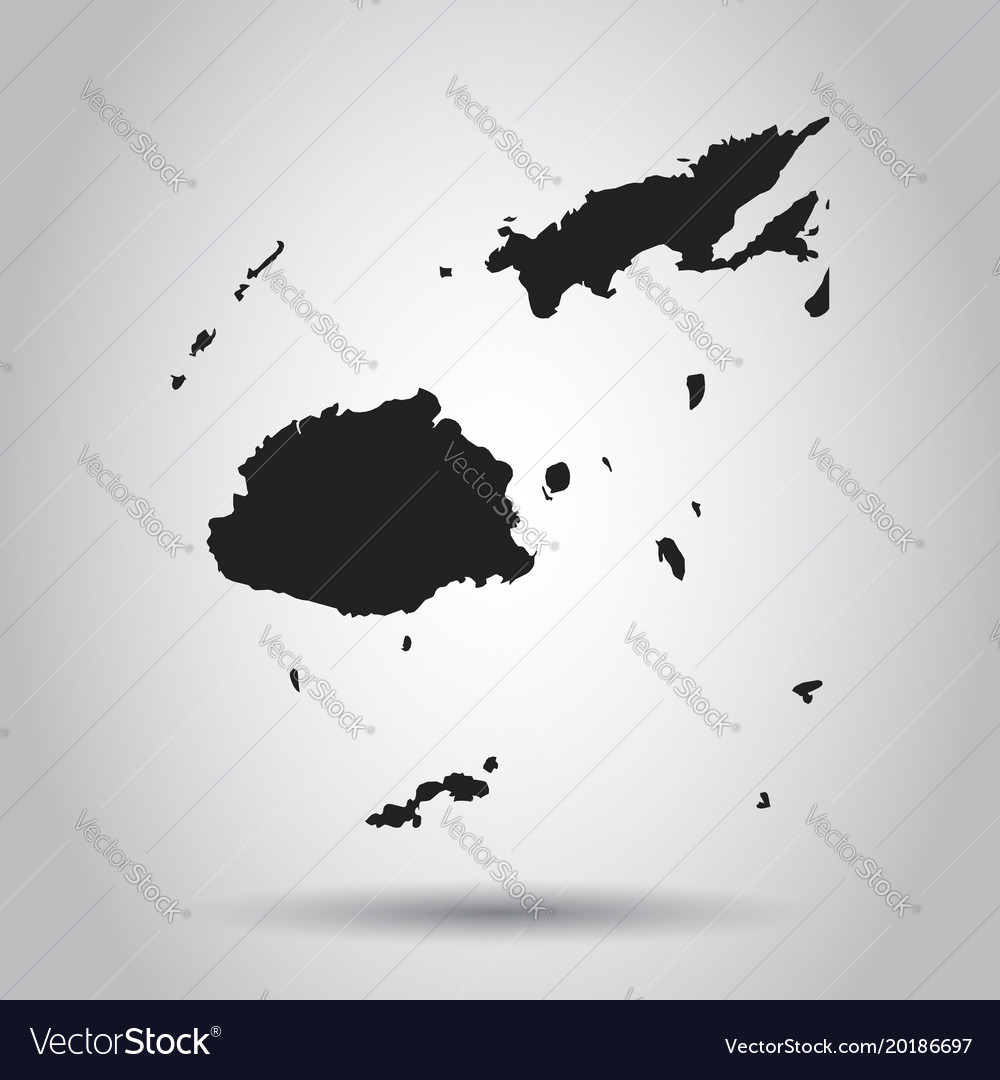 Fiji Map Black Icon On White Background