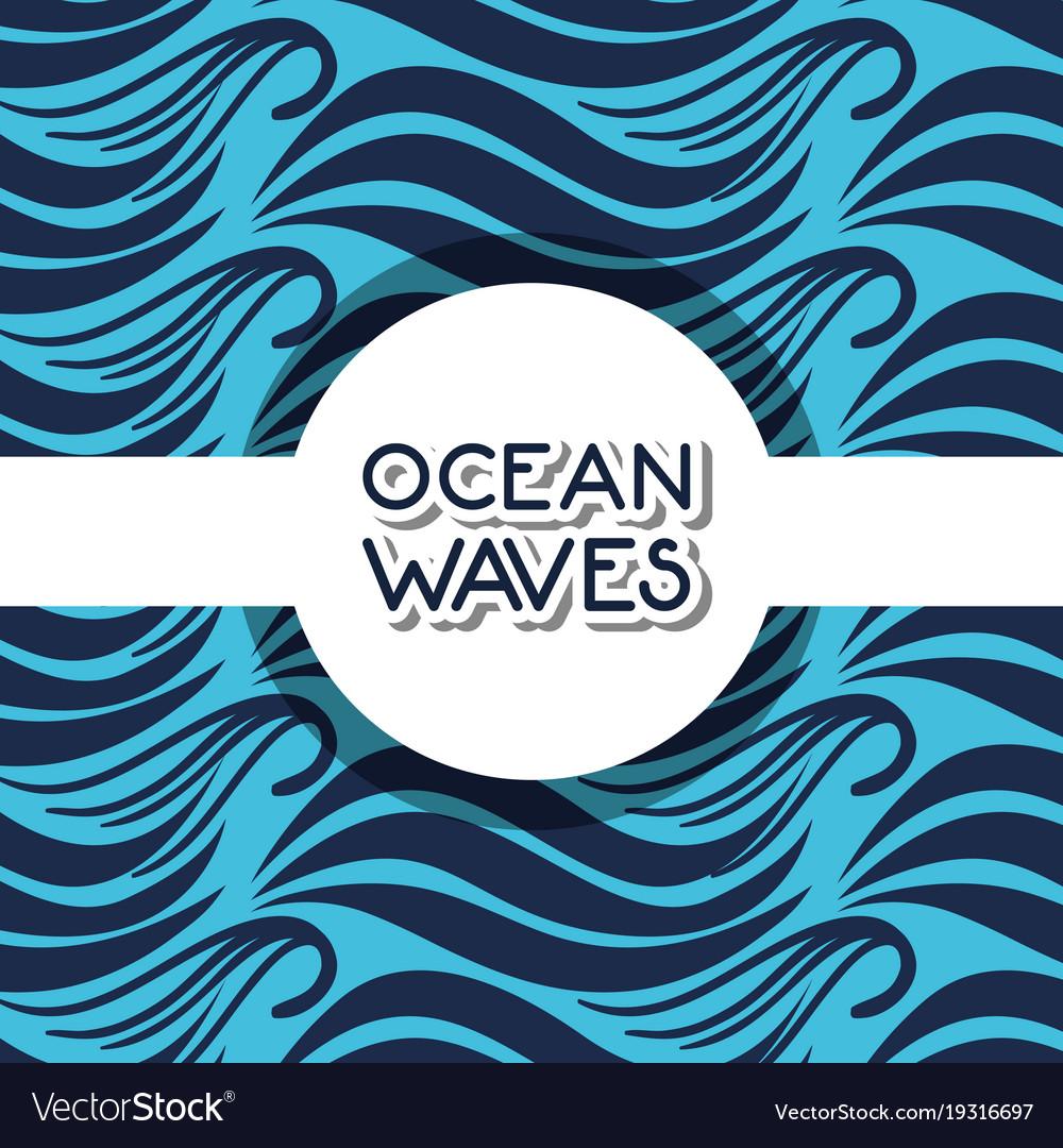 natural ocean waves background design royalty free vector