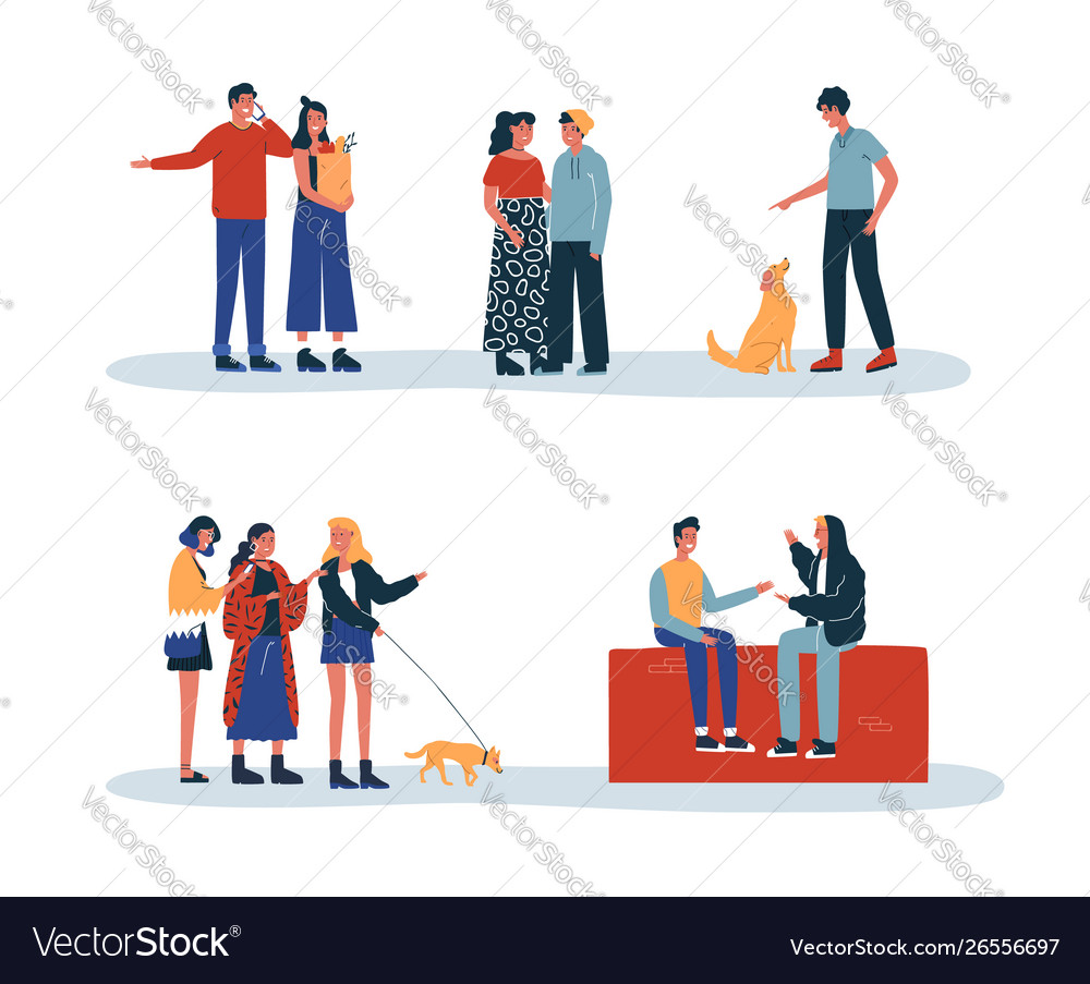 People and pets daily lifestyle activity isolated