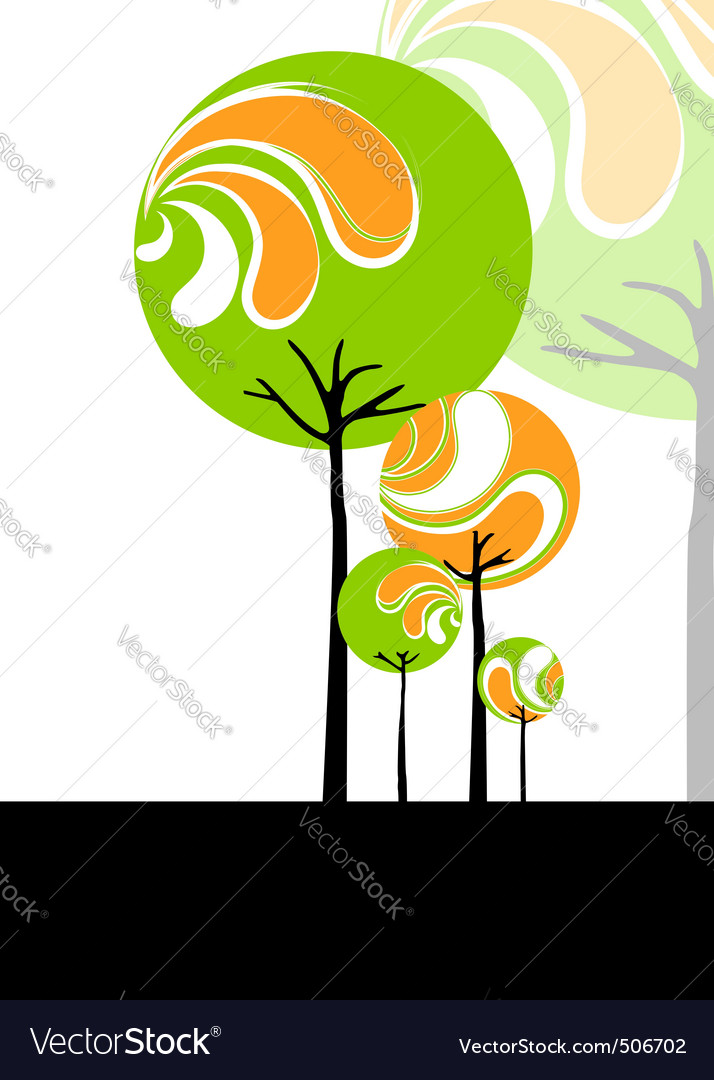 Abstract springtime vector image
