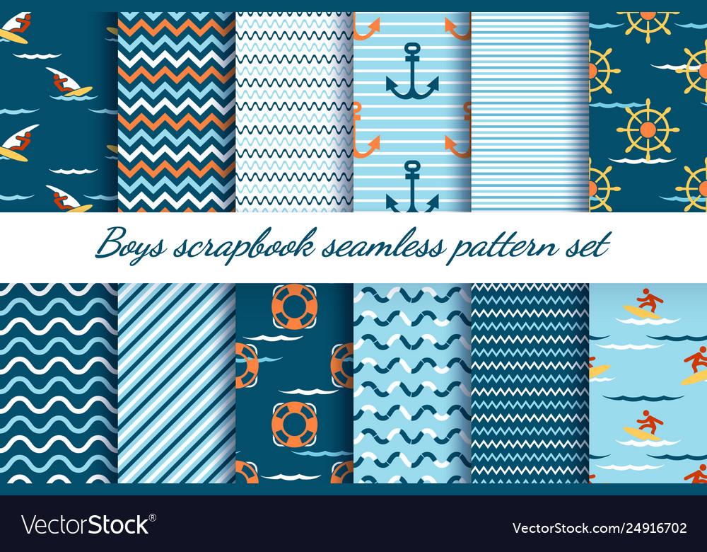 Boys scrapbook patterns