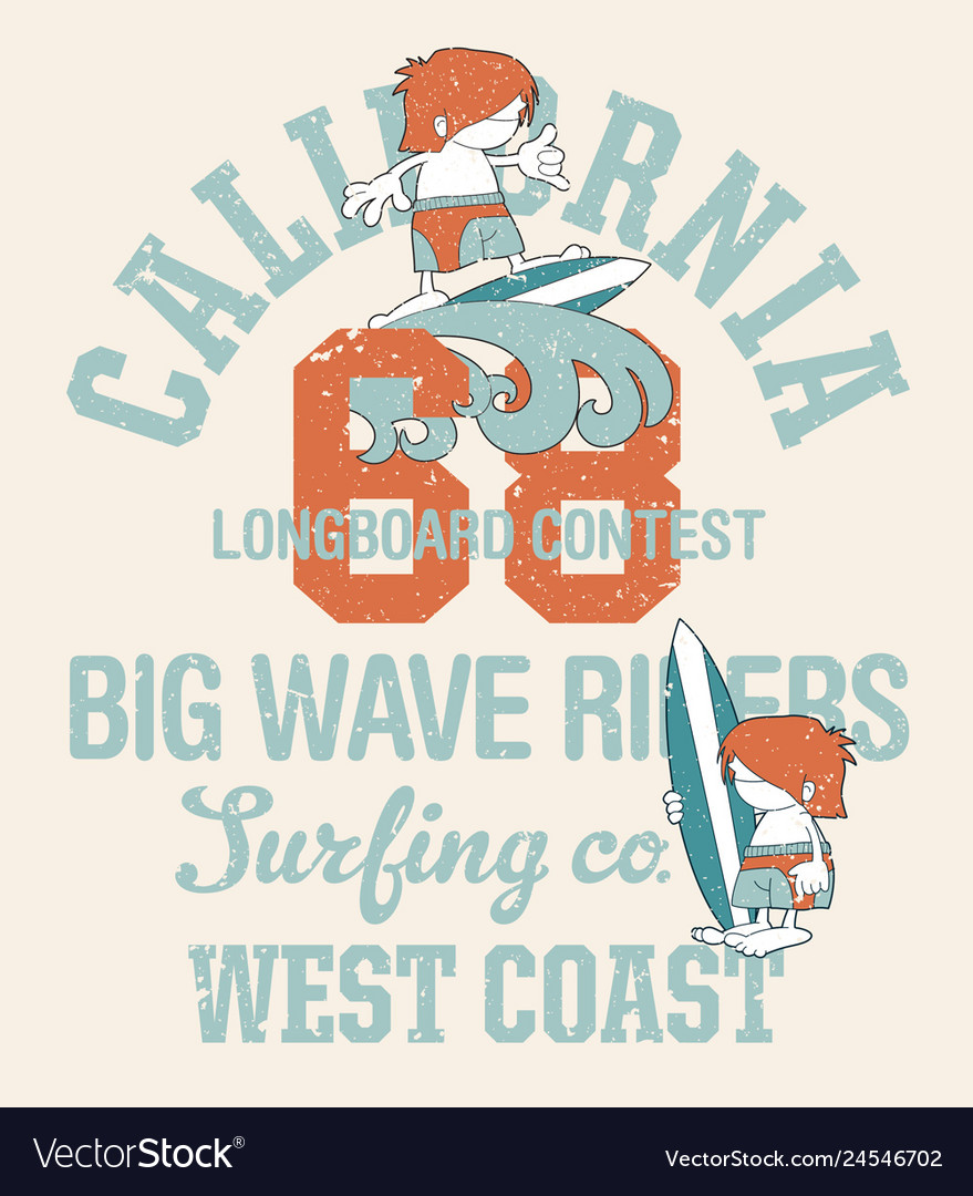 Cute kids california surfing company