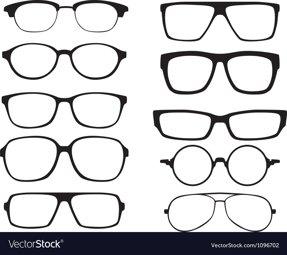 glasses royalty free vector image vectorstock rh vectorstock com glasses factory uk glasses factory blaydon