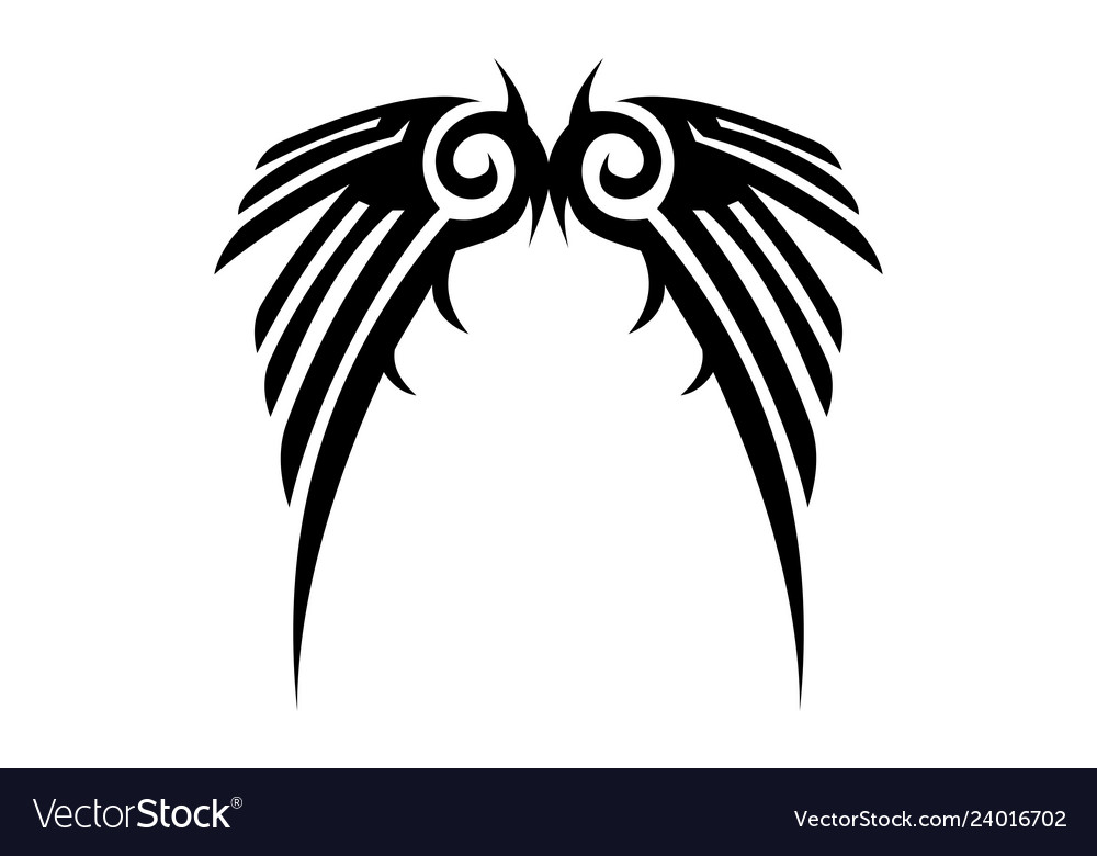 Tribal wings logo icon
