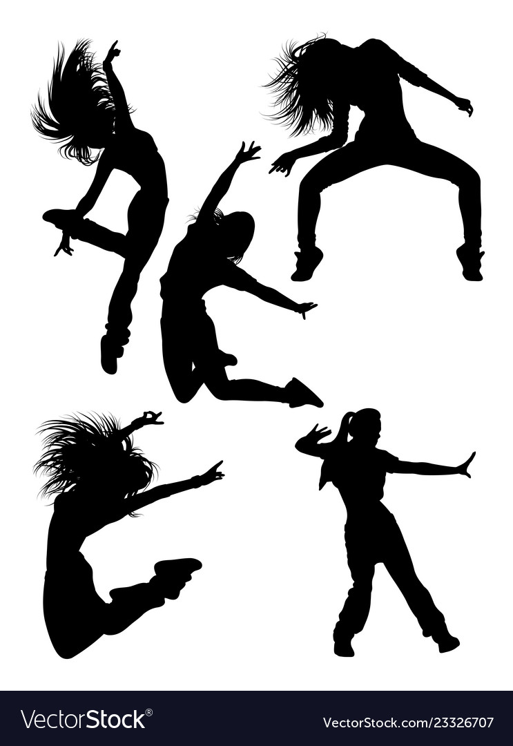 Attractive Modern Dancer Silhouette Royalty Free Vector
