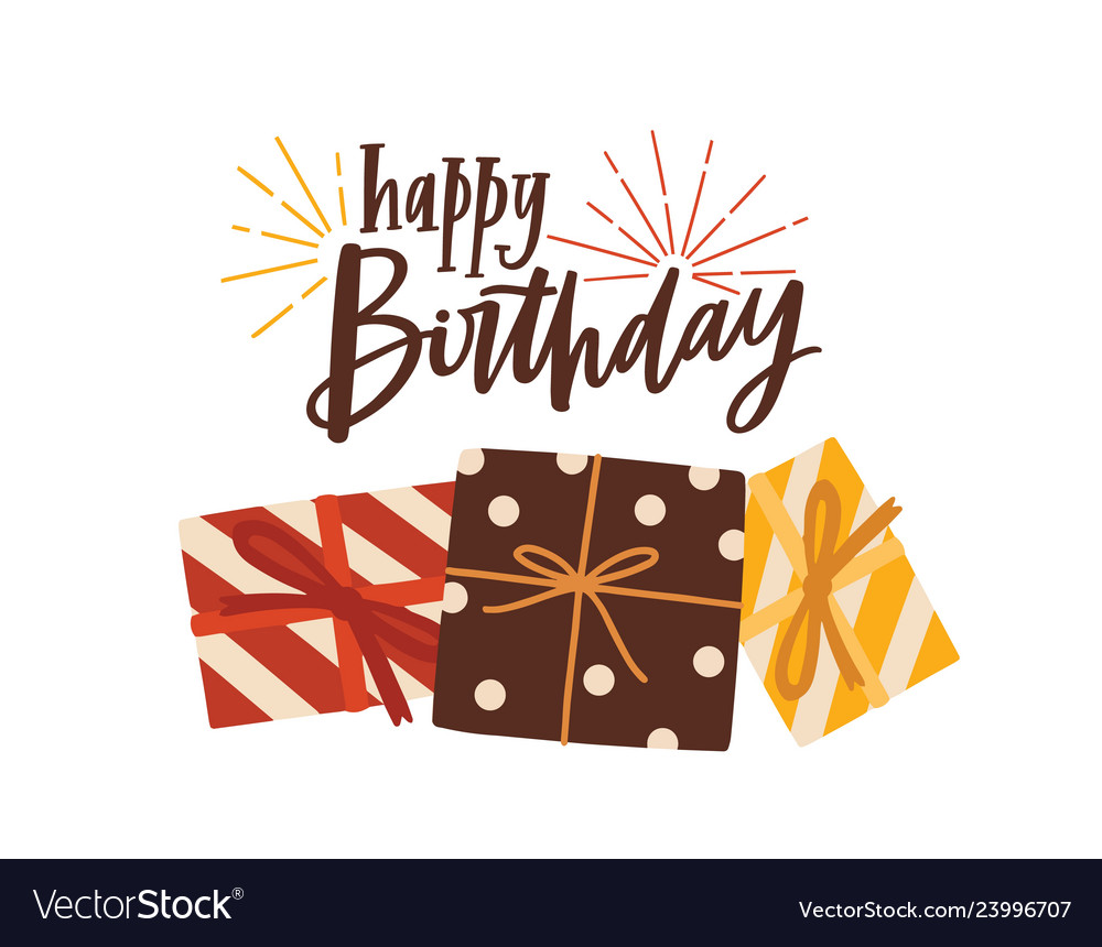 Birthday greeting card or postcard template with