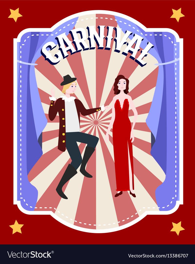 Carnival festive flat poster
