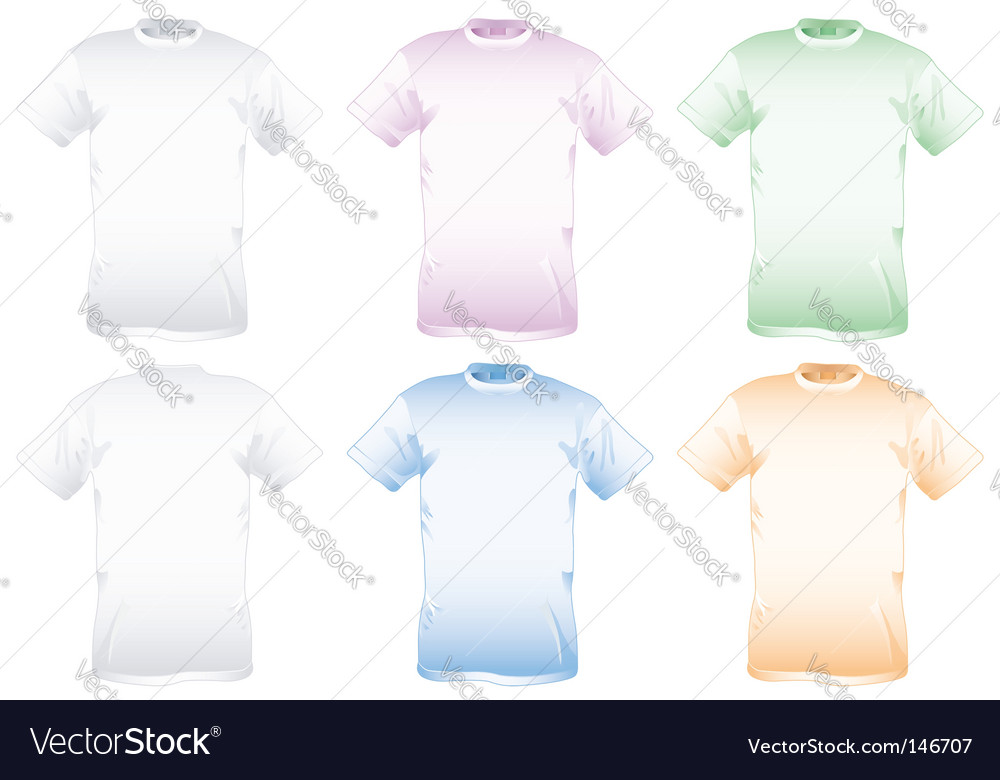 Collect shirt vector image