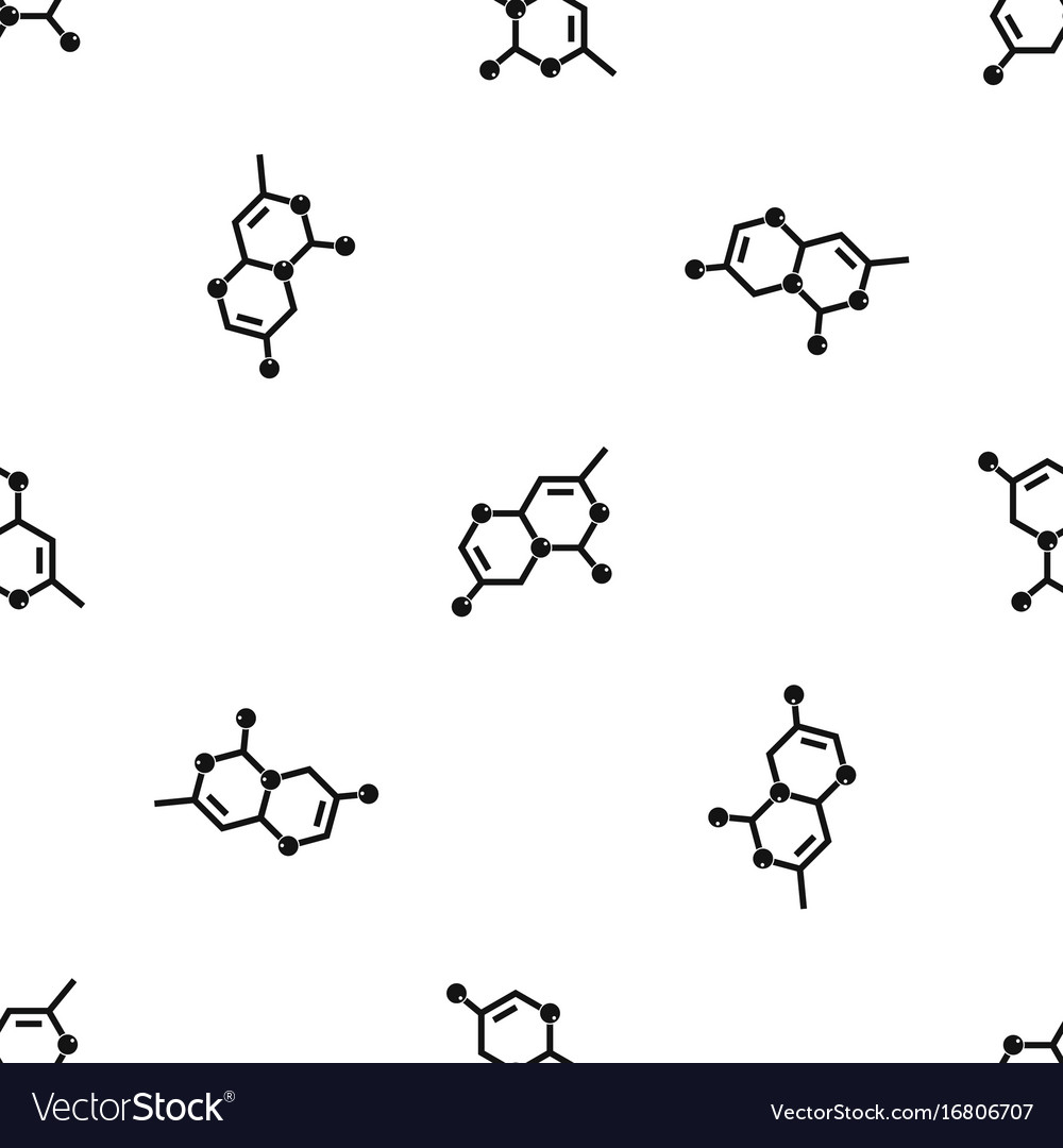 Crystal lattice pattern seamless black