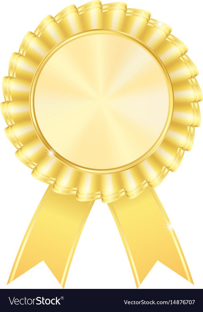 golden award badge royalty free vector image - vectorstock  vectorstock