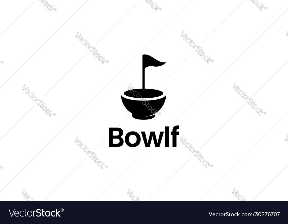 Golf bowl logo design concept