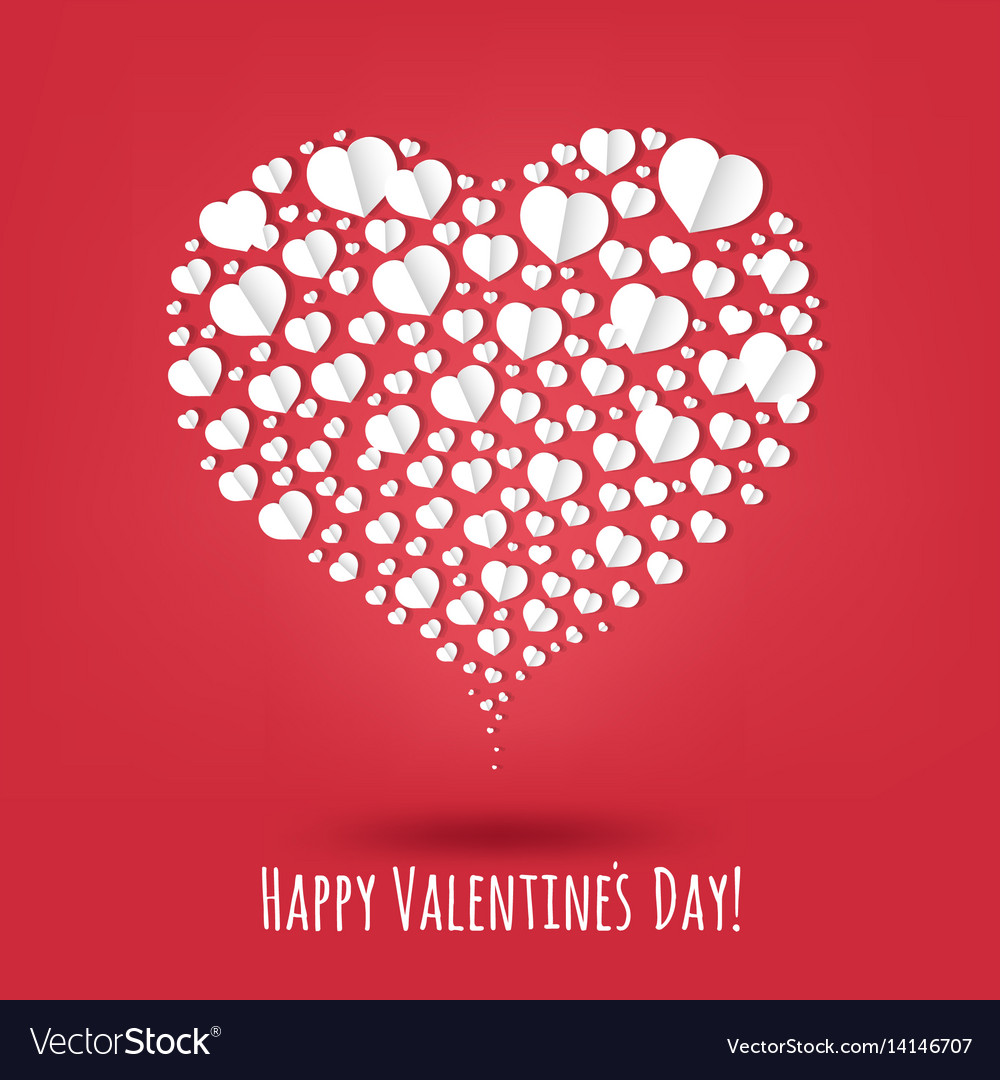 Happy Valentines Day Poster Royalty Free Vector Image