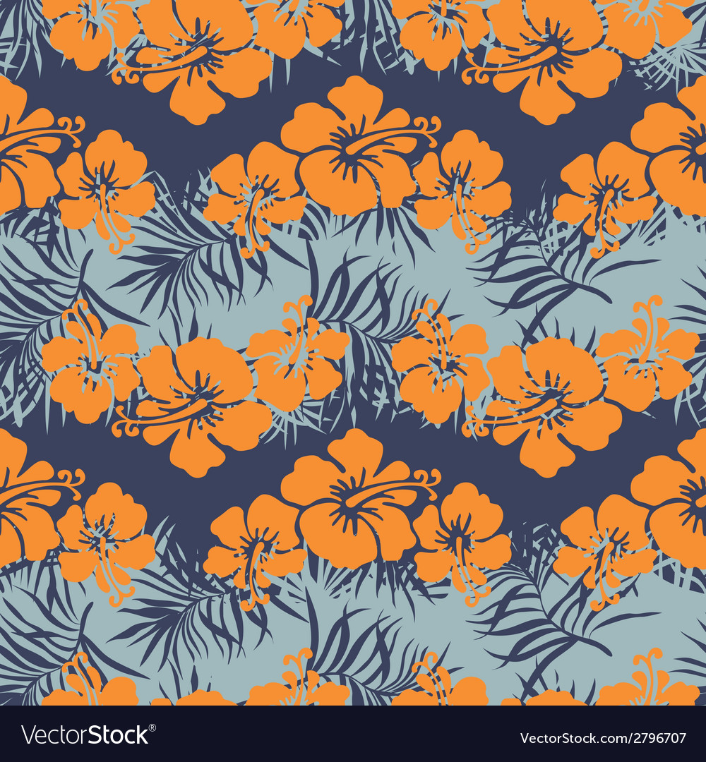 Hibiscus flowers seamless pattern