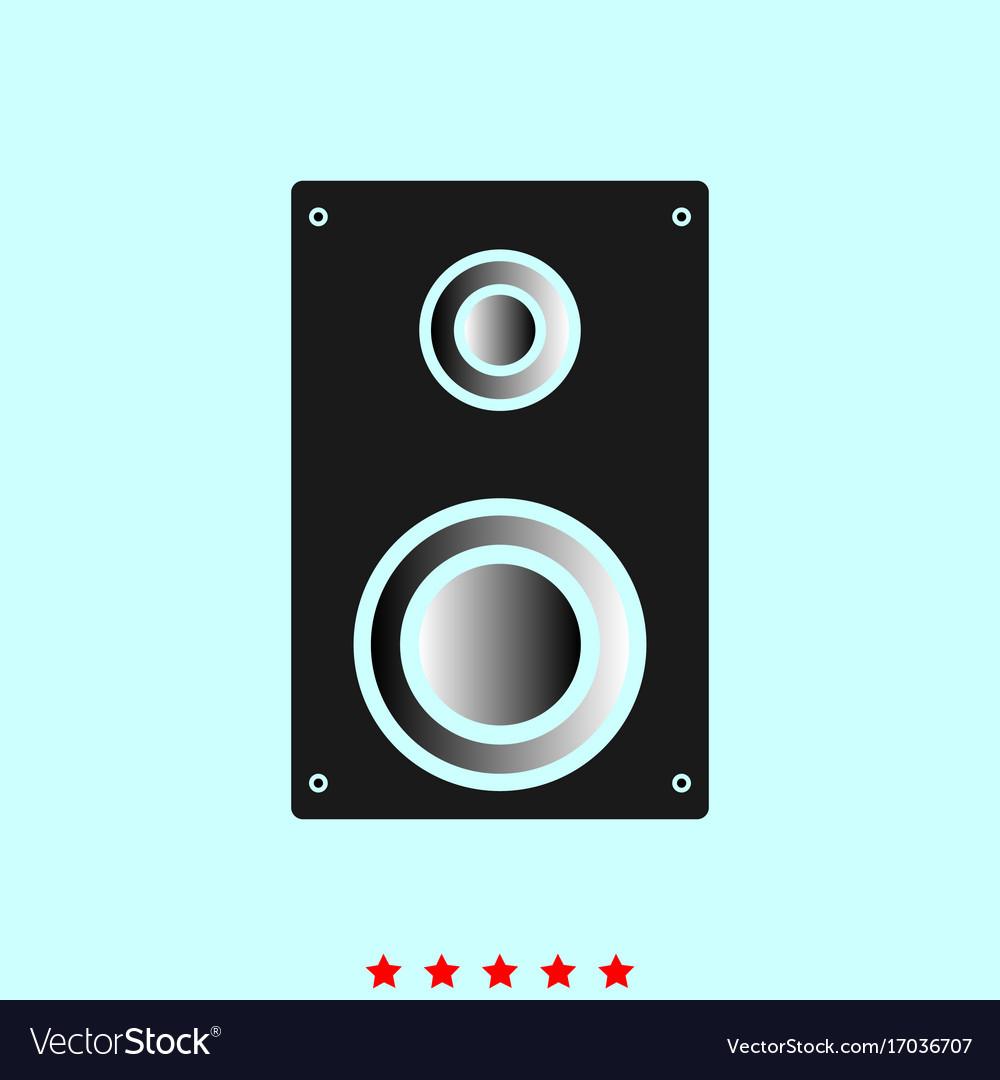 Loud speaker set it is color icon