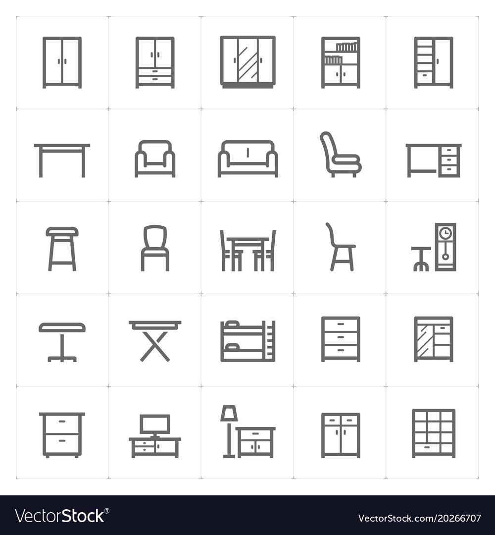 Mini icon set - furniture icon