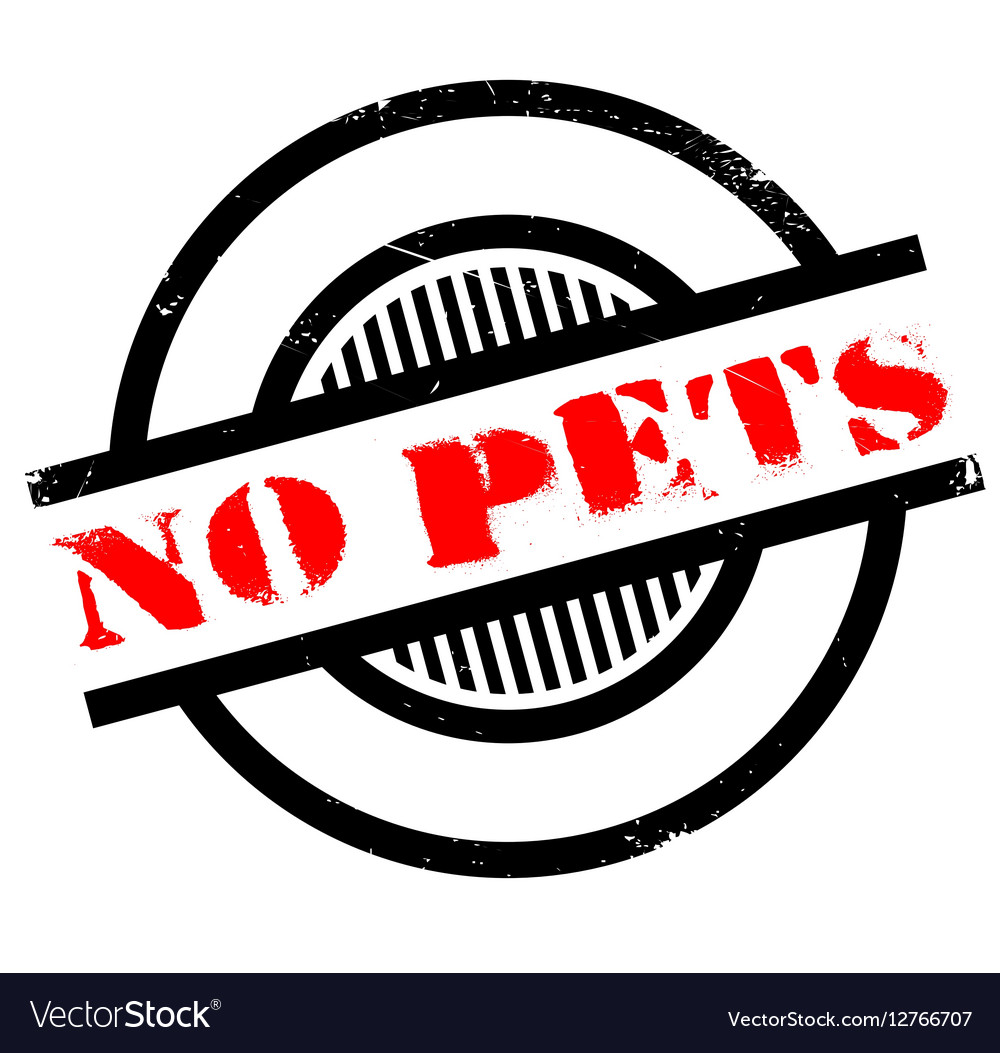 No Pets rubber stamp vector image