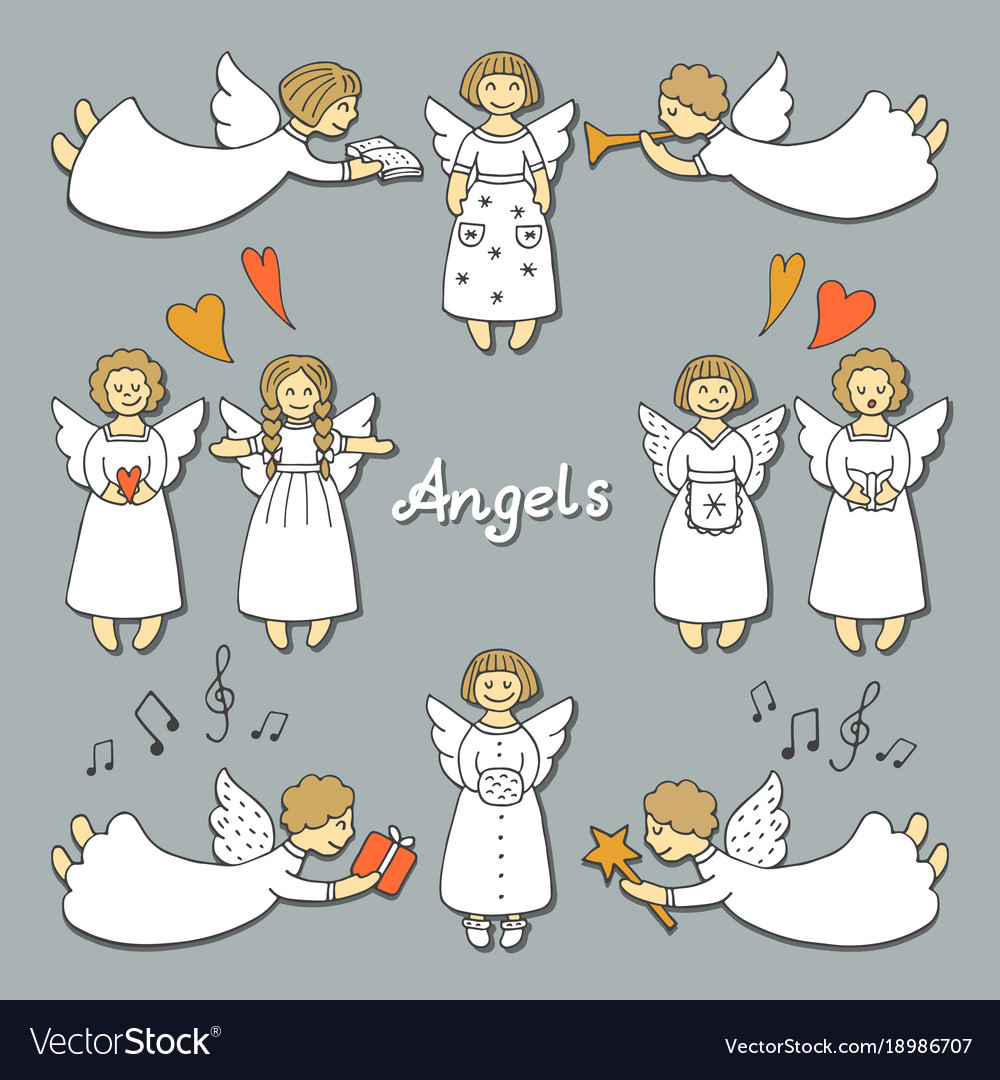 Christmas Angels.Set With Christmas Angels