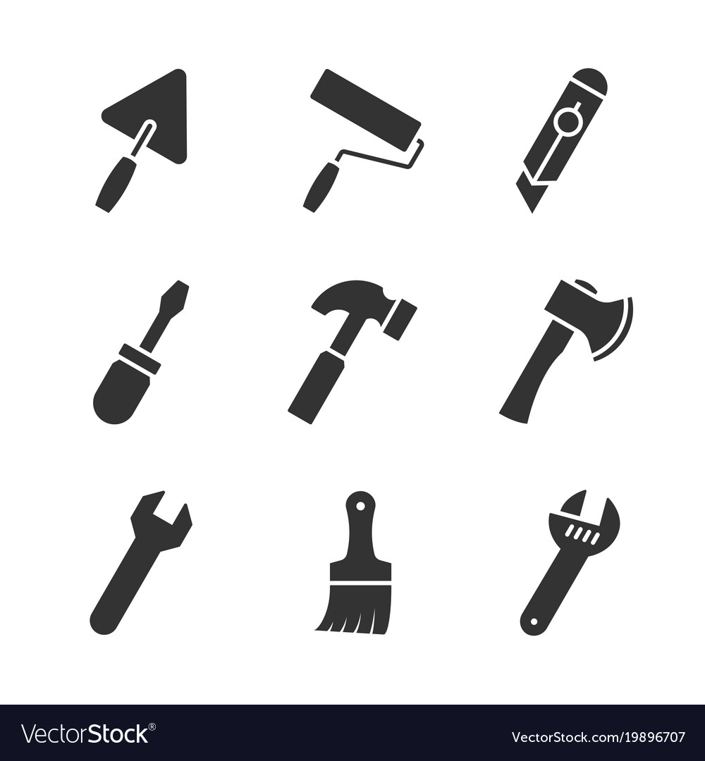 Tools black icons