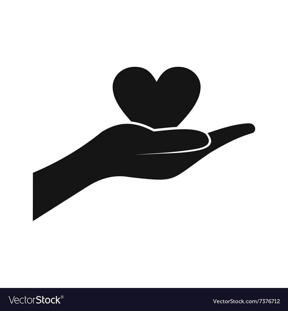 a hand giving a heart icon royalty free vector image rh vectorstock com giving hands vector free giving hands vector free