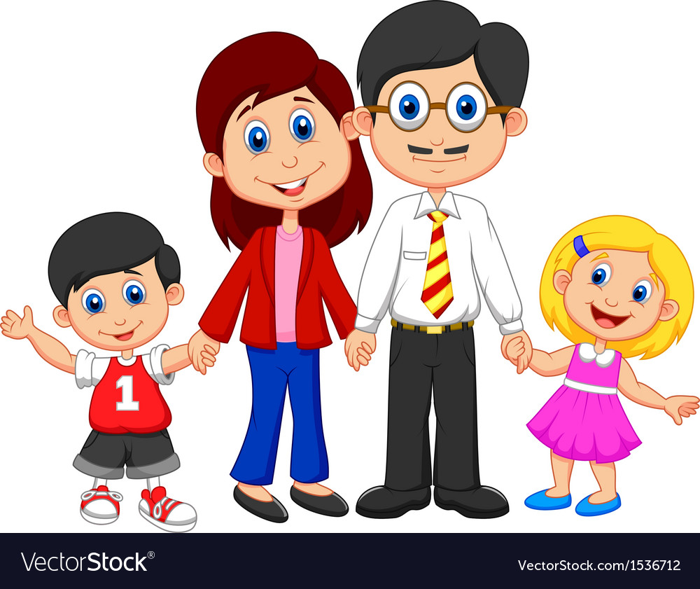 happy family cartoon royalty free vector image rh vectorstock com tamil family cartoon pictures tamil family cartoon pictures