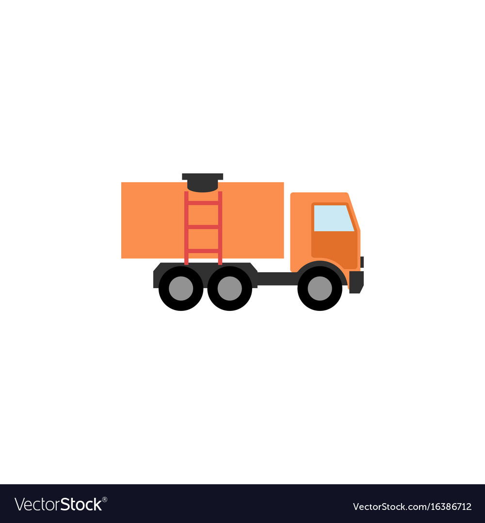 Isolated truck flat icon van element can