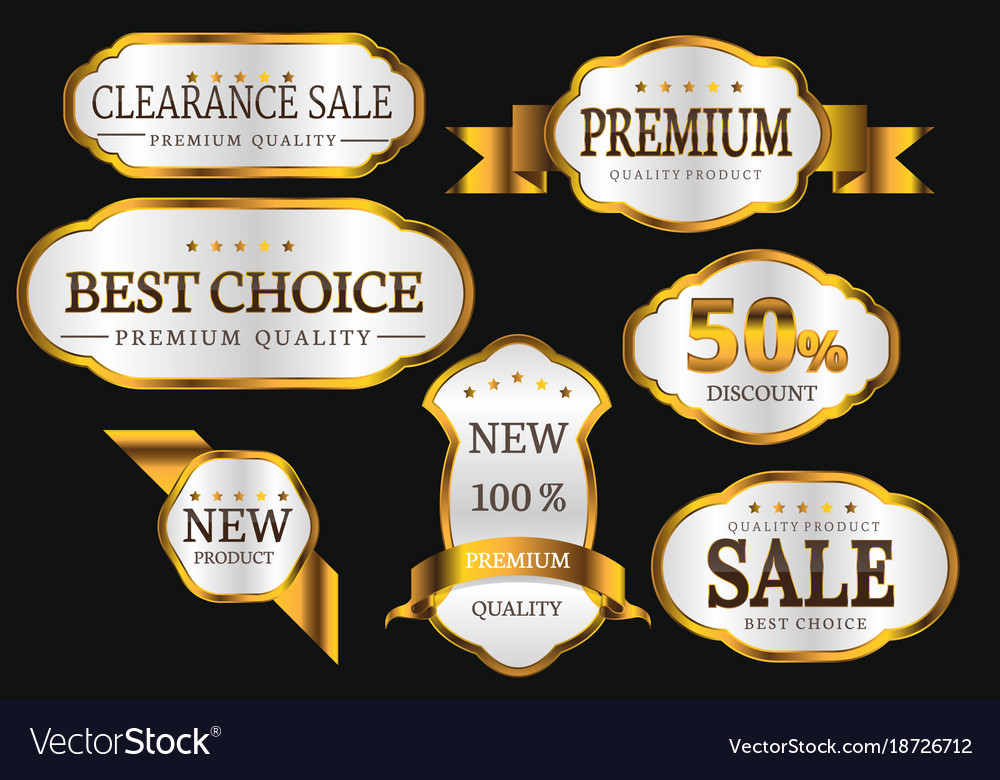 Premium quality collection golden labels design
