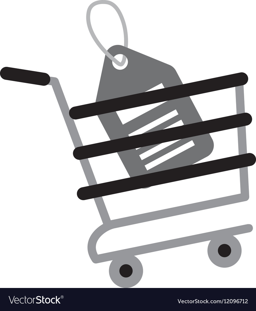Shopping cart online price tag gray color