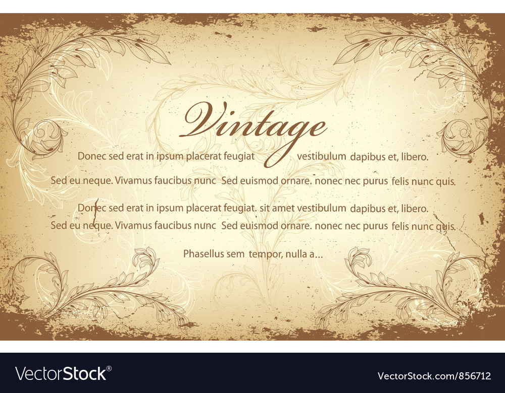 vintage invitation royalty free vector image vectorstock