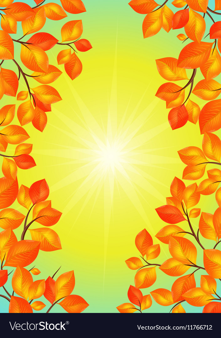 Yellow leaves frame