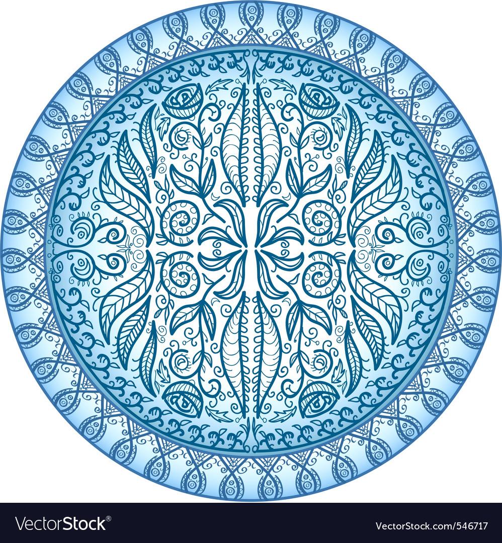 Circular ornamental pattern