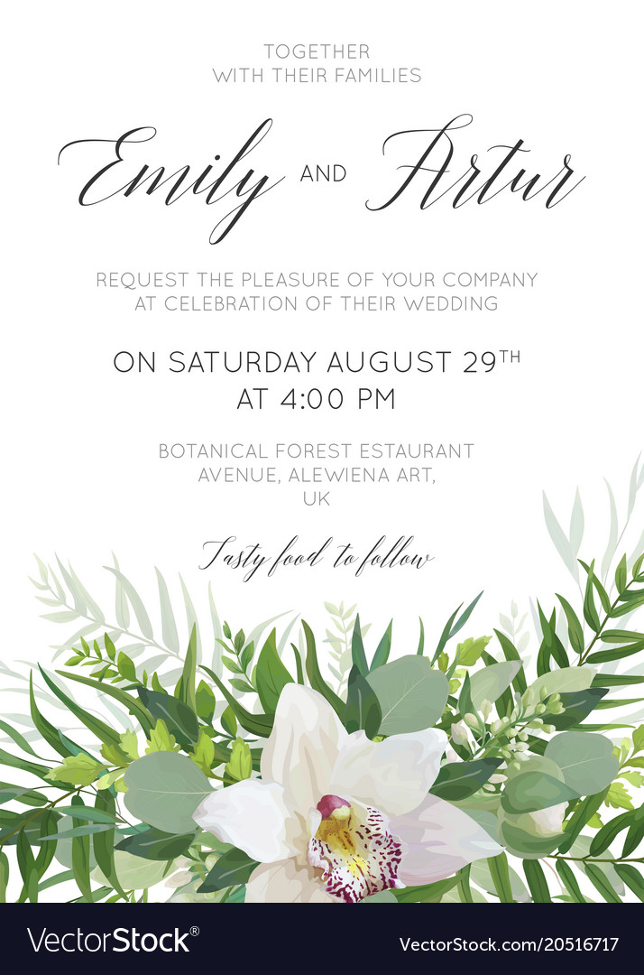 Cute wedding floral invitation save the date card