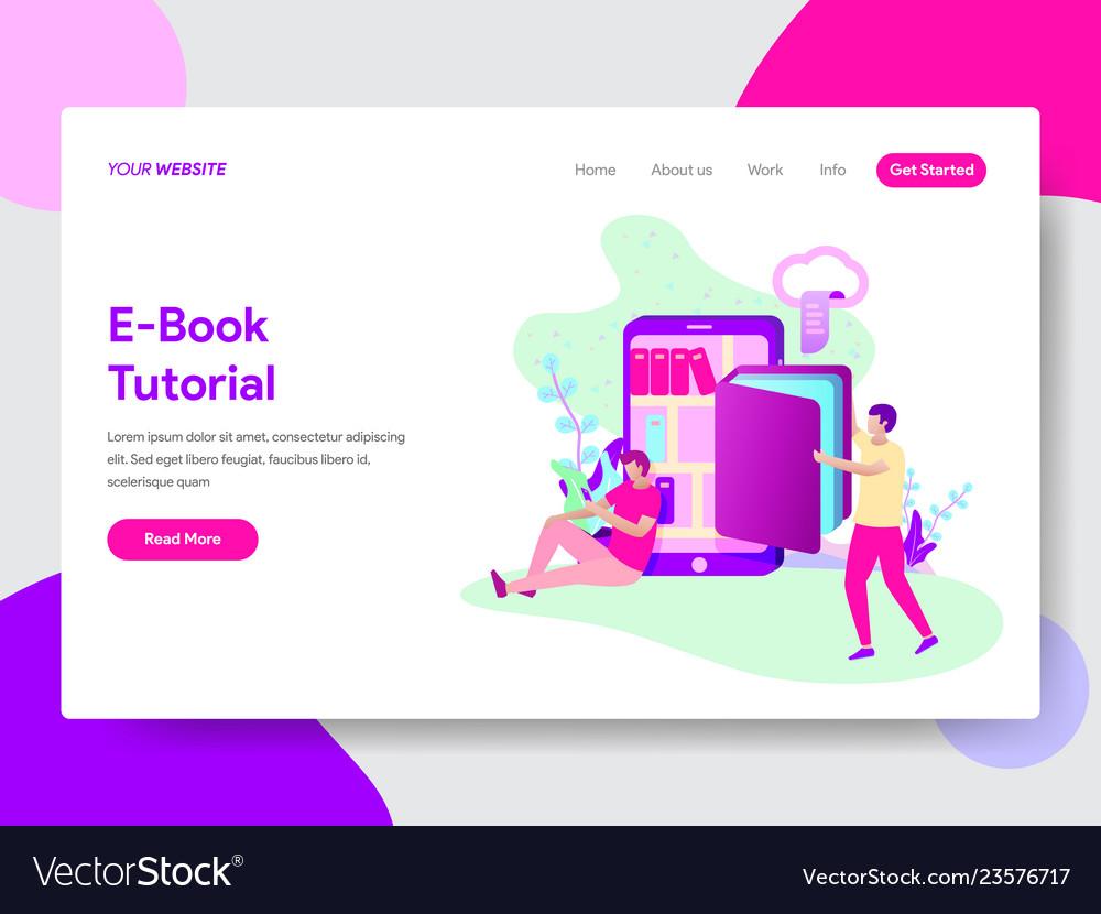 E-book tutorial concept