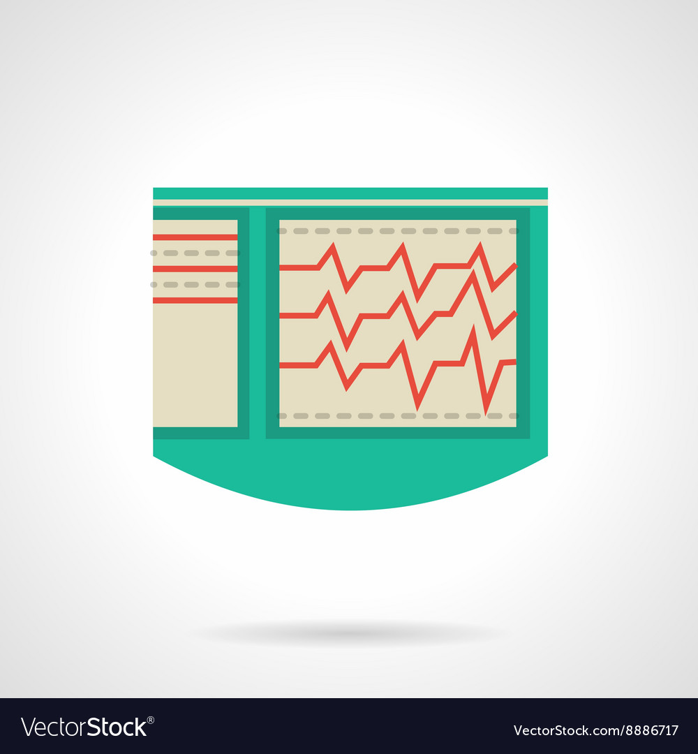 Electrocardiograph flat color icon