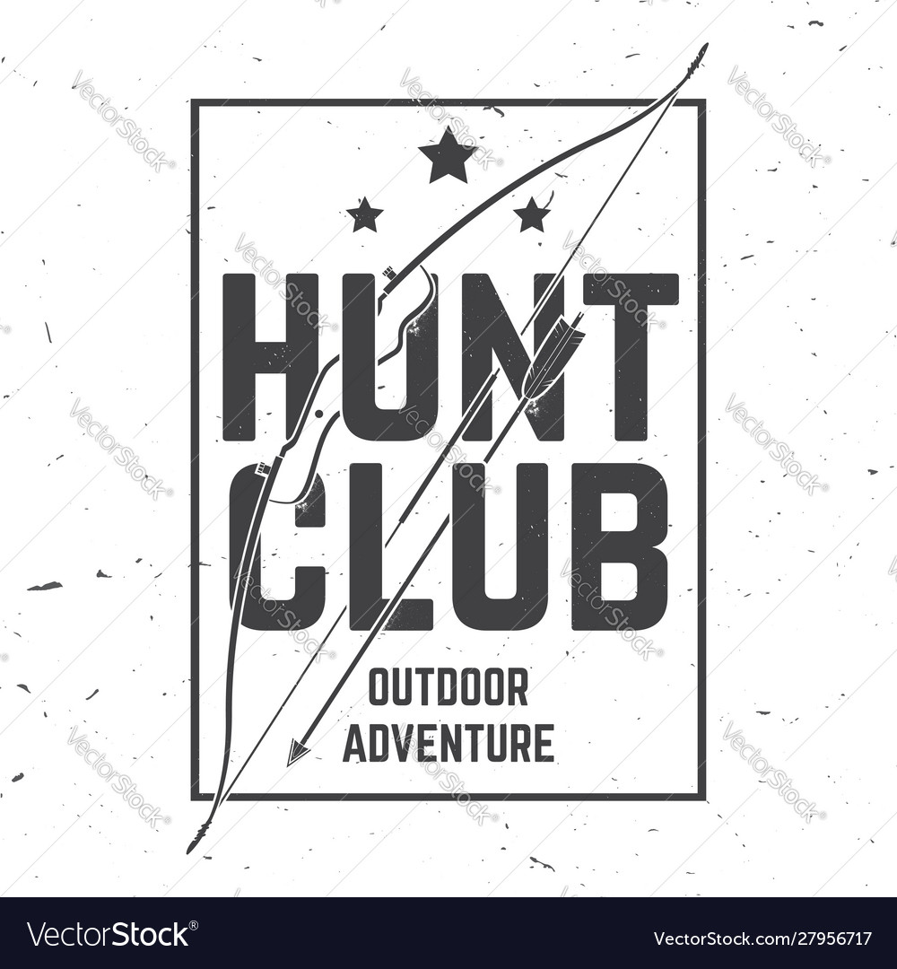 Hunting club concept for shirt or label