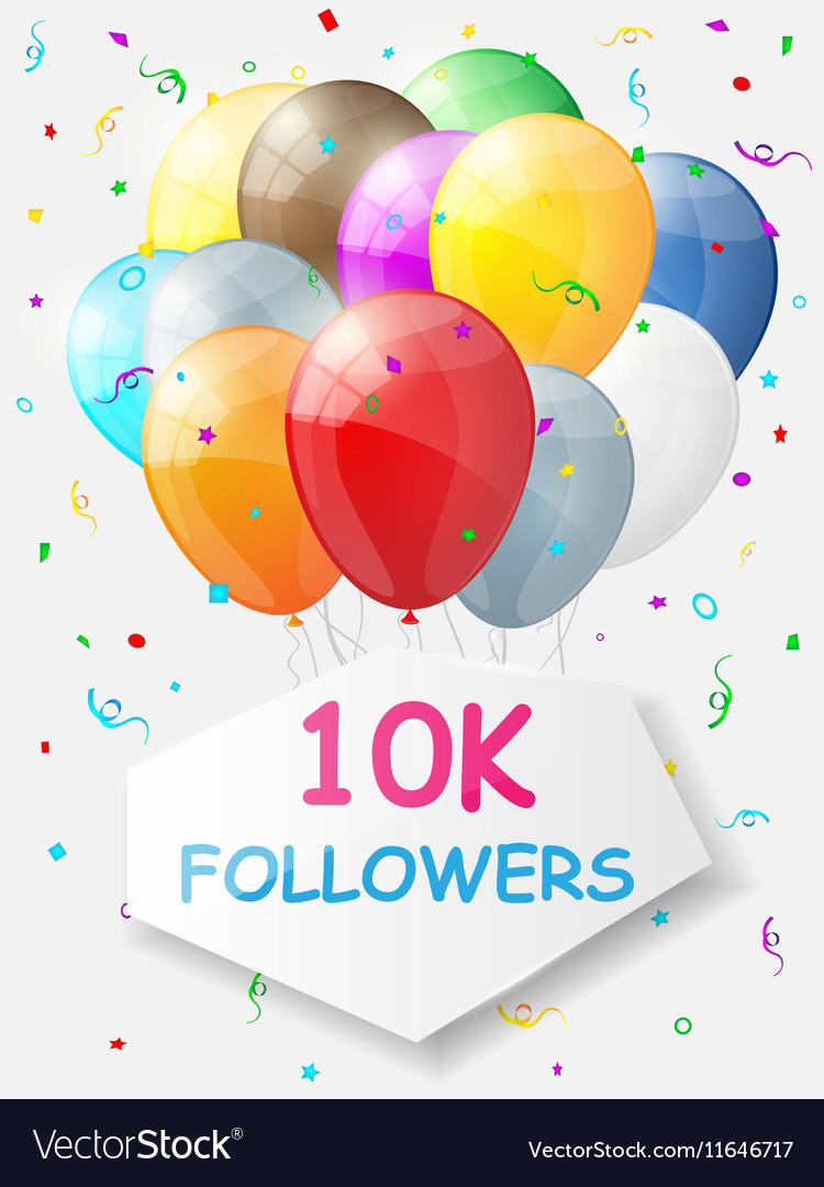 Milestone 10000 Followers Background with