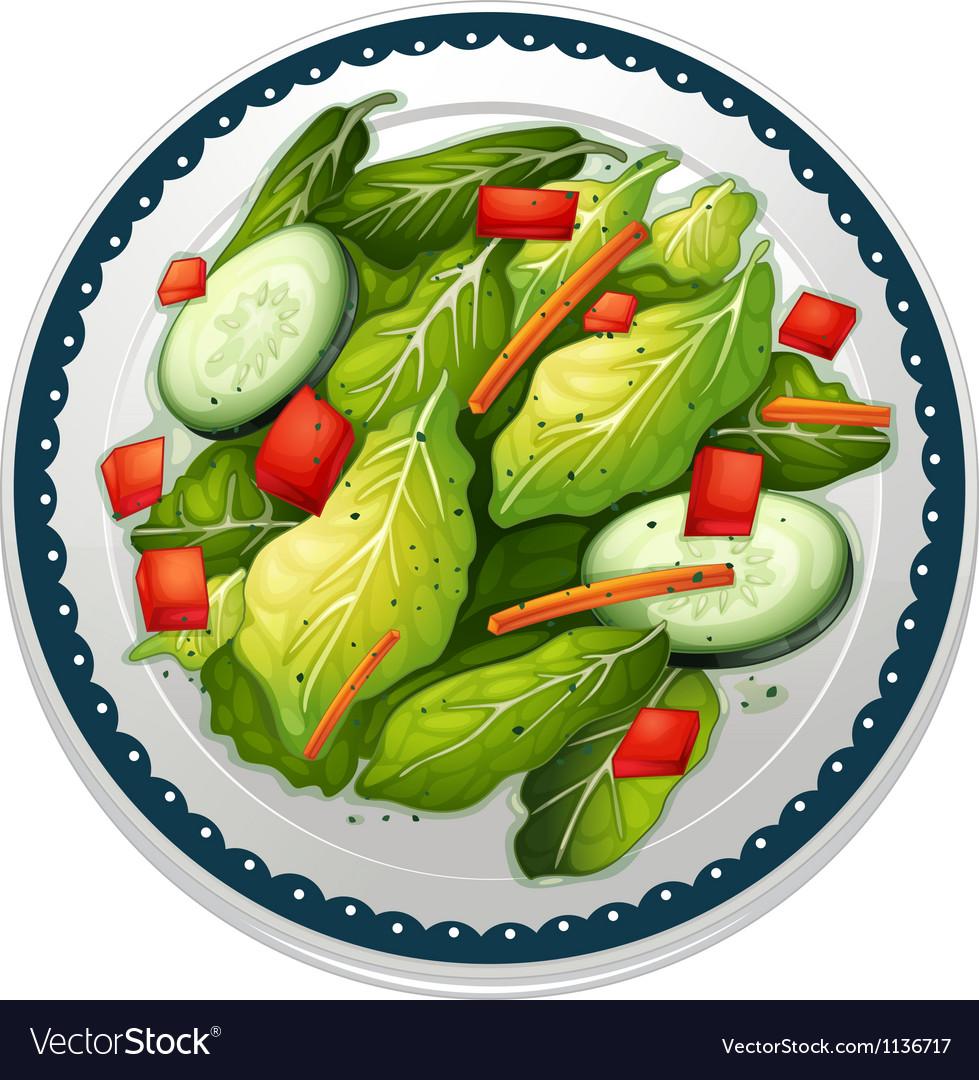 Salad and a dish
