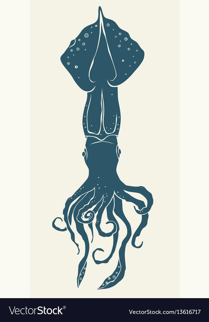 Squid icon isolated