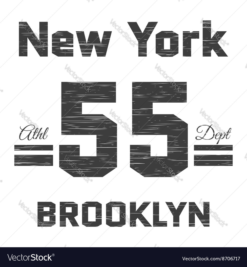T shirt typography graphic New York Brooklyn