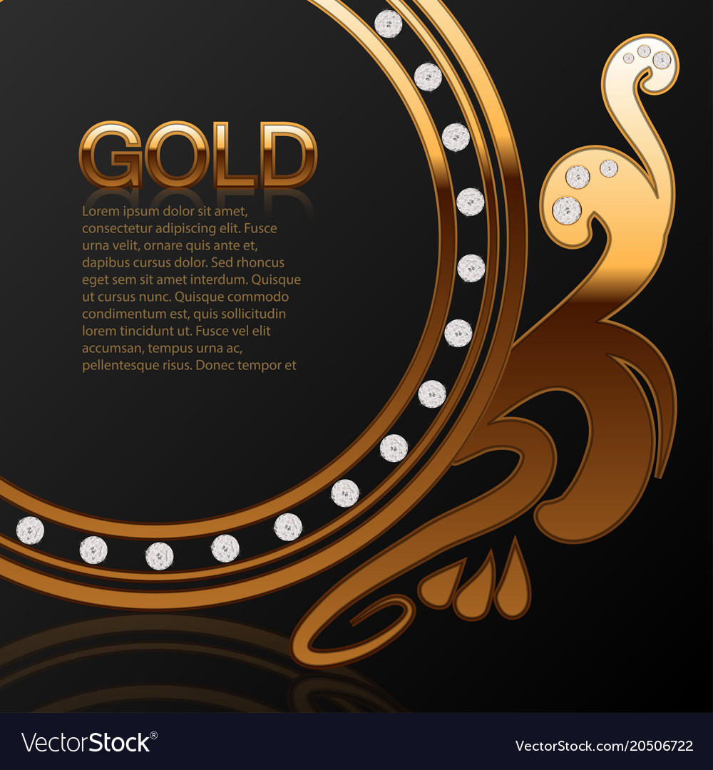 Background for a jewelry store gold with diamonds