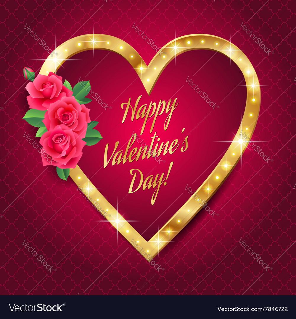 Banner valentine retro vector image