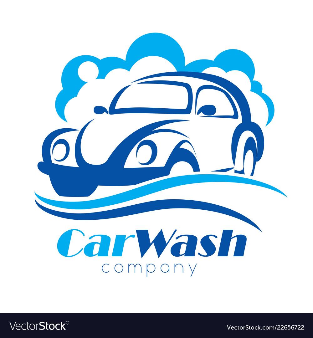 Car wash stylized symbol design elements for