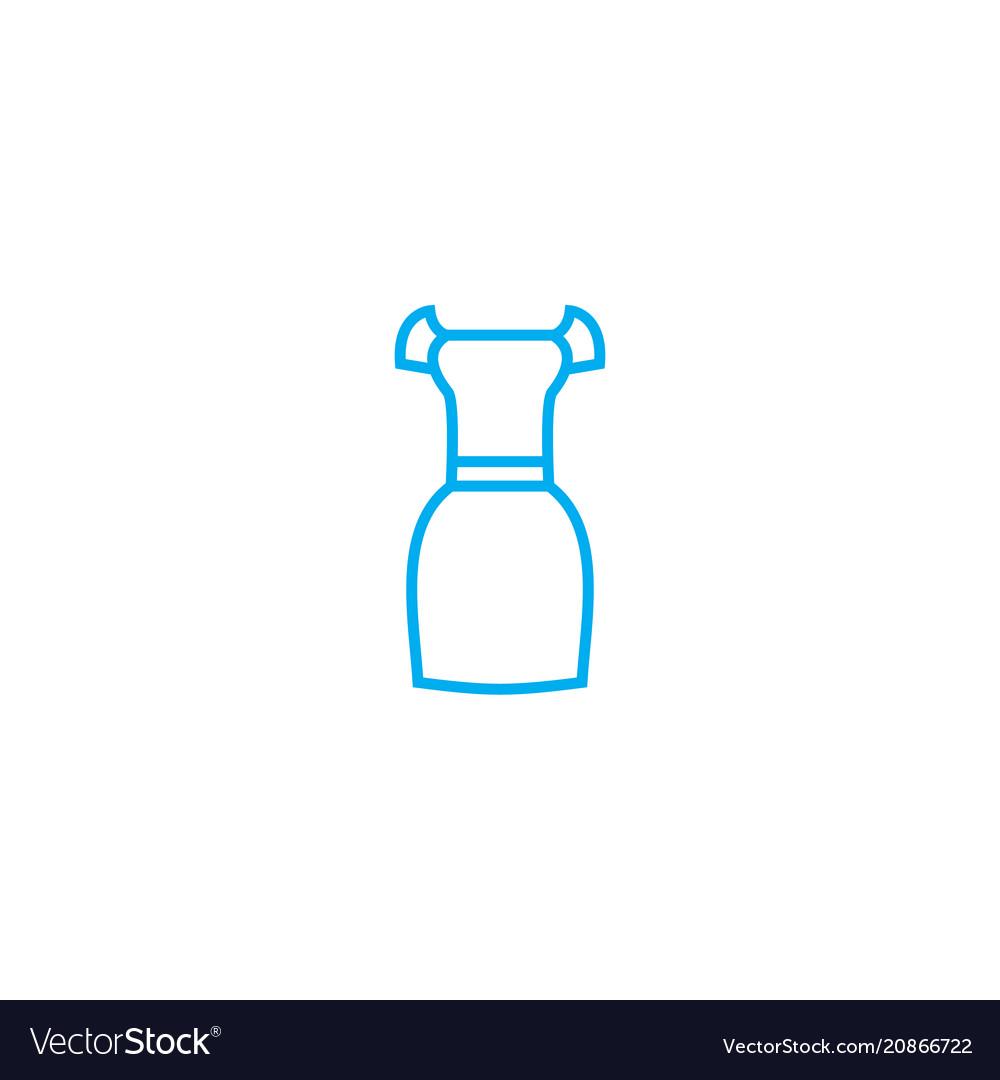 Date dress thin line stroke icon date