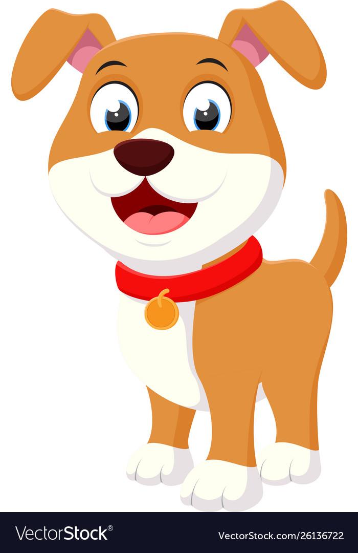 Happy Dog Cartoon Royalty Free Vector Image Vectorstock