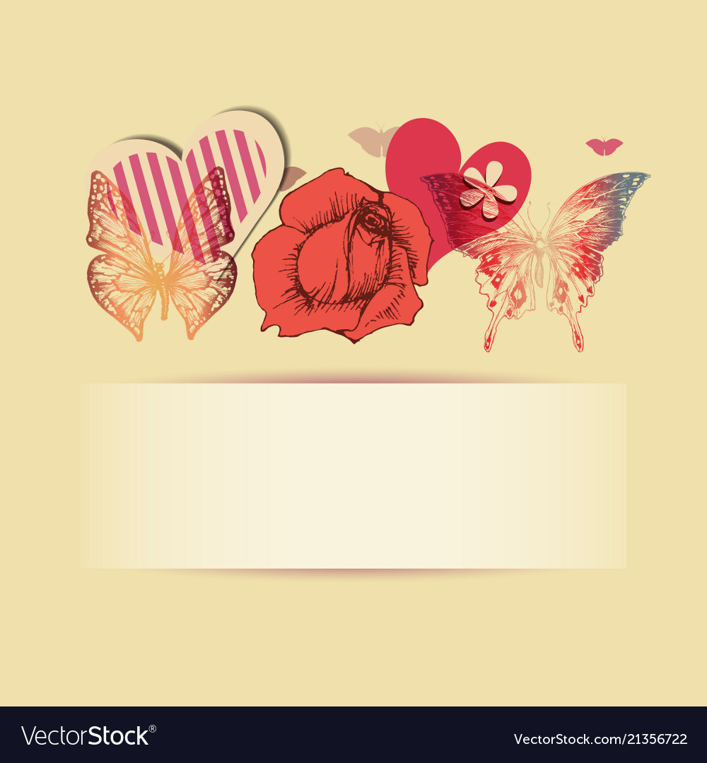 Love background with space for text rose hearts