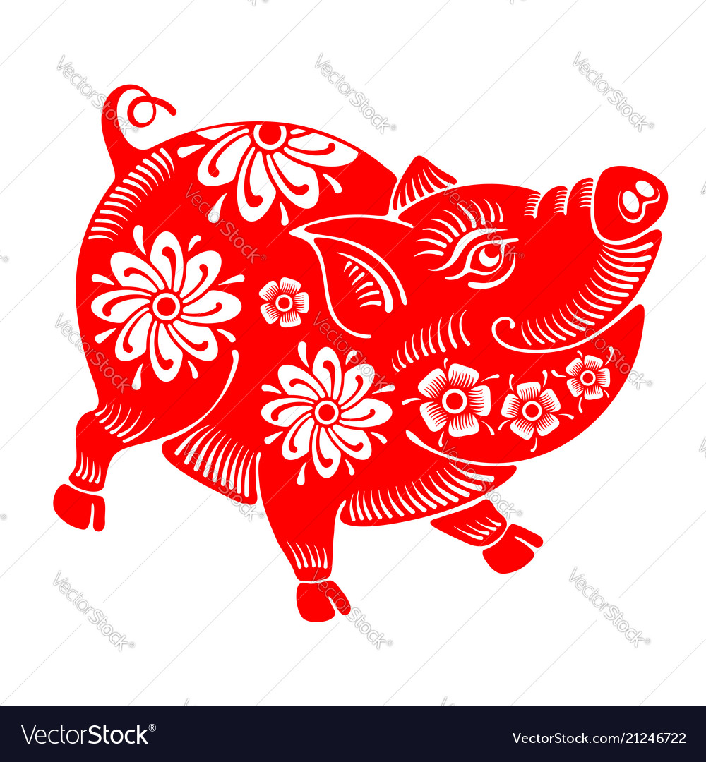 Pig plump and cheerful