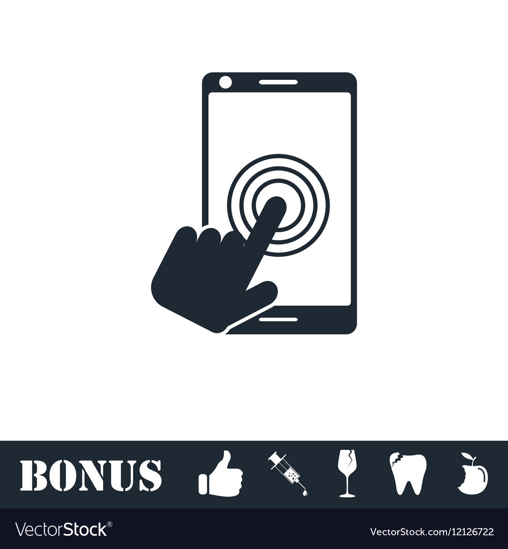 Touch screen icon flat